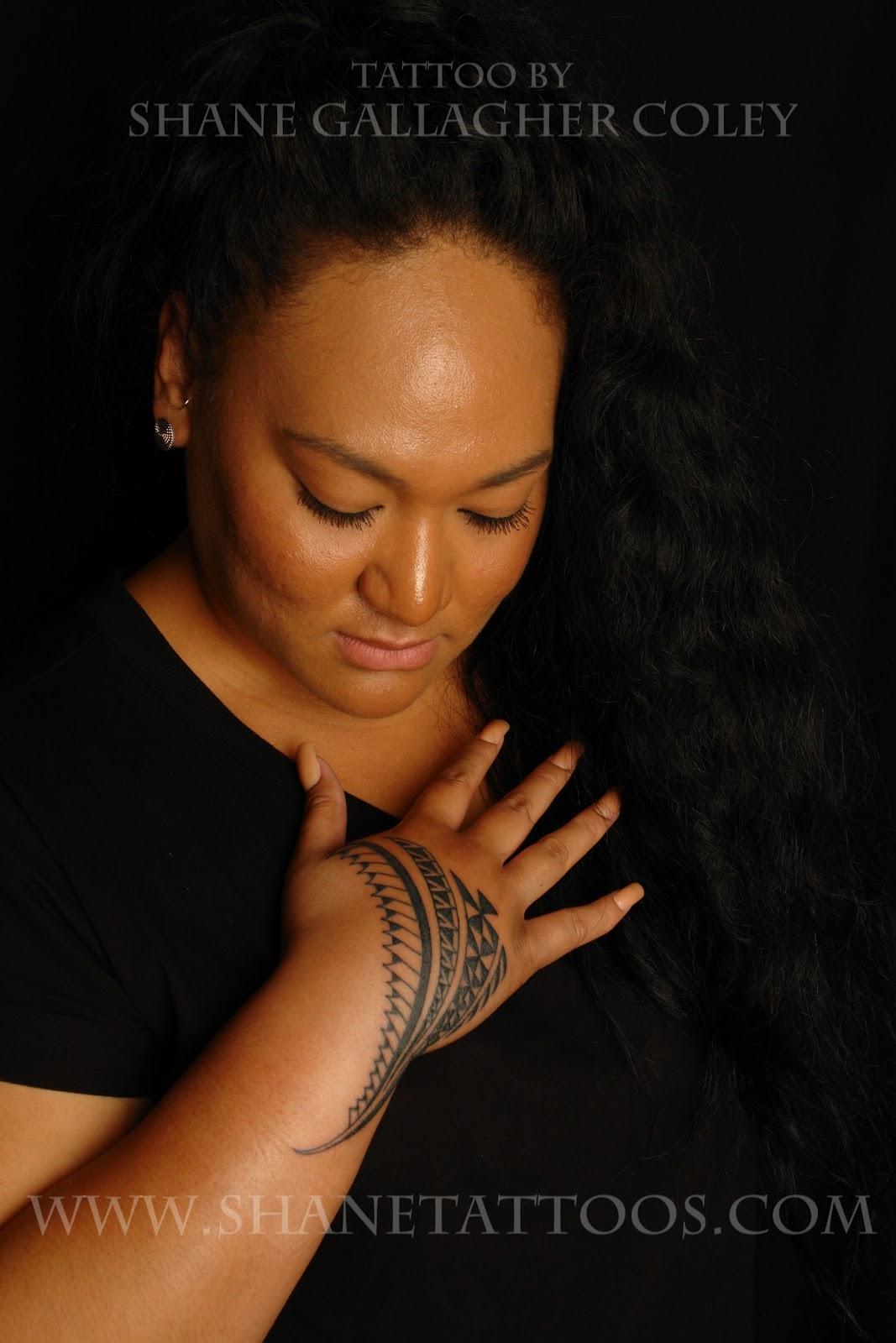 Polynesian Tattoo On Females Hands