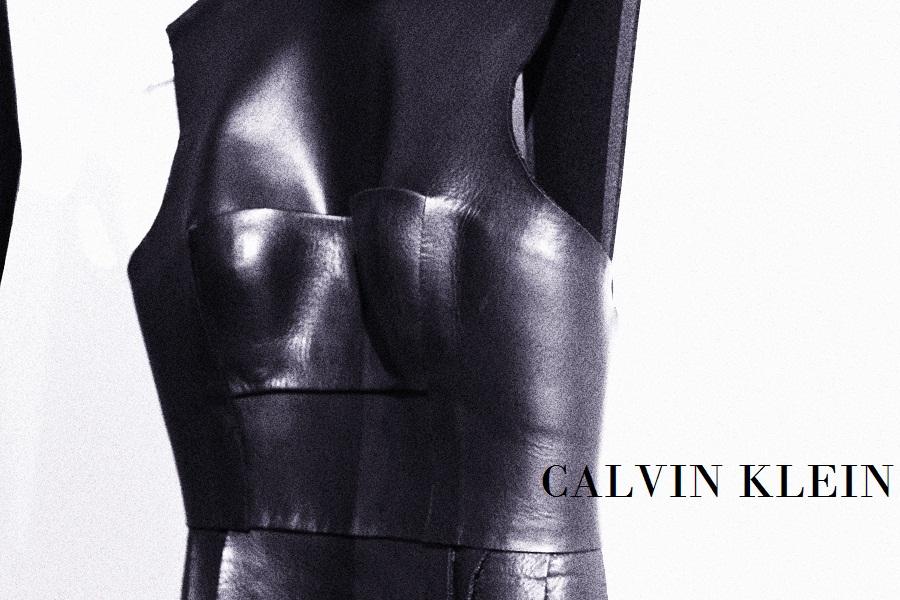 leather calvin klein