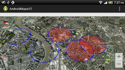 Draw tranparent circle for Google Maps Android API v2