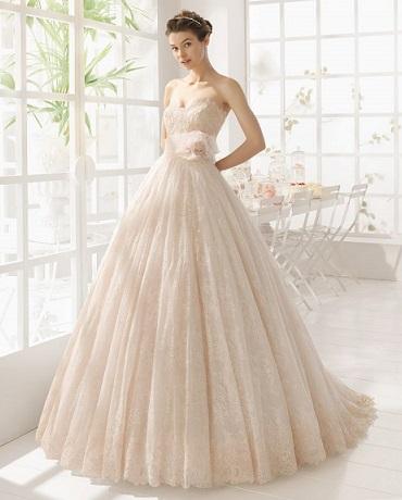 mujer: moda y arte: vestidos de novia en rosa 2016