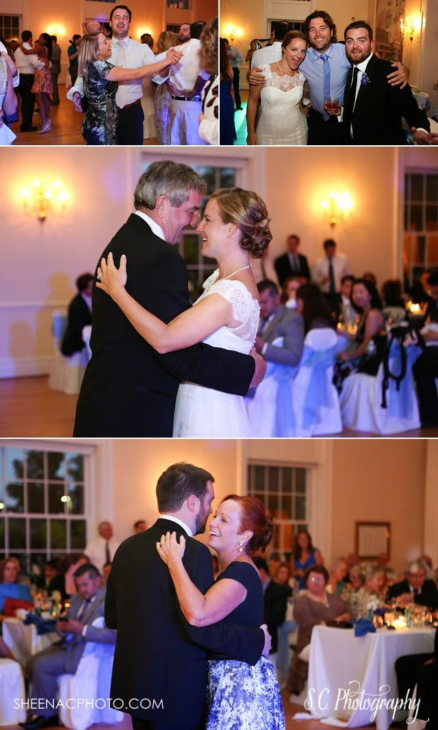 Wedding reception daddy daughter dance mother son
