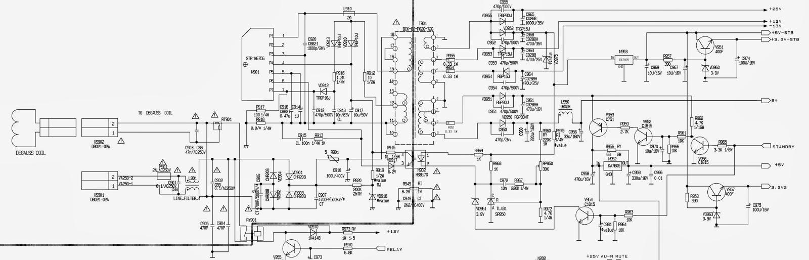 KONKA - KS21TK305_SMPS SCHEMATIC (Circuit Diagram) _ STR-W6756