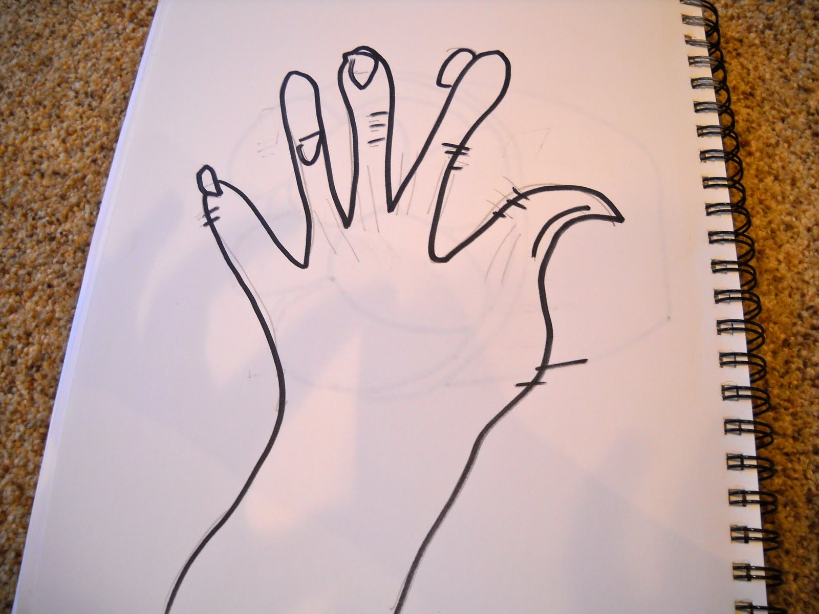 Blind Contour Line Drawing Hand : Kristen s art class blind contour drawings hand and