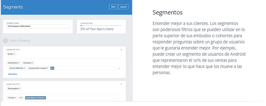 tutorial facebook analytics segmentos
