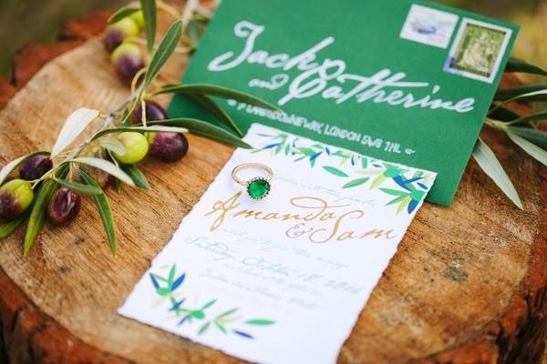 Olive invitation wedding