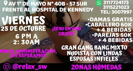 VIERNES  DE 6 pm a 2 am GANG BANG CON HERMOSAS CHICAS SW