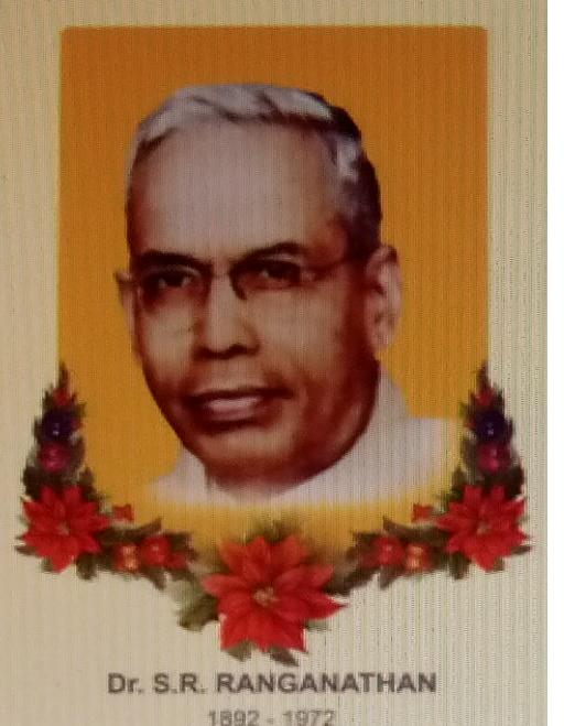 Happy Librarian's Day 2017- Dr. S.R.Ranganthan's 125th Birth Anniversary