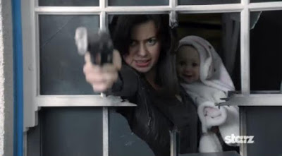 Torchwood Miracle Day New World baby screencaps Gwen Cooper Eve Myles gun photos pictures images