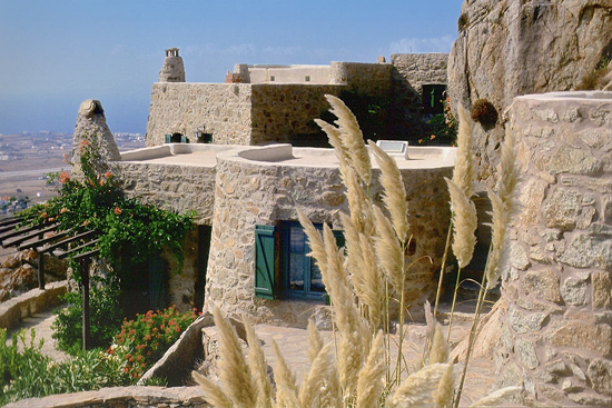 Typical Cycladic stone house in Mykonos by Deborah French Designs. See more at www.grecianparadise.com