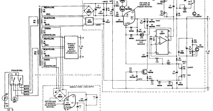 simple dual 50v 5a universal power supply wiring diagram schematic    diagram guide