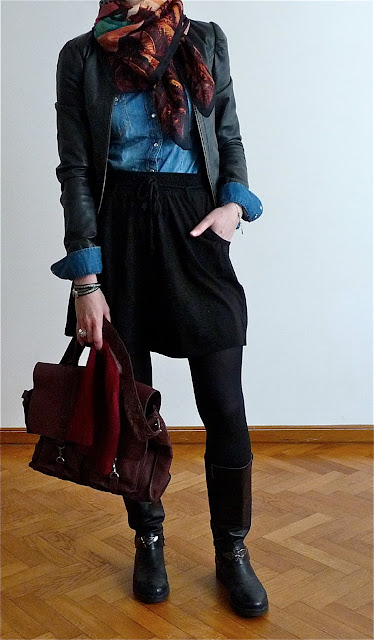 Look OOTD Street Style Mode Fashion H&M Stradivarius Dim Méliné B&R Collection Vanessa Bruno OlivB Monoprix