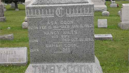 Asa Coon Nancy Kilts Grave marker