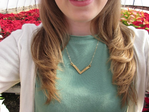 Enter to win this gold chevron necklace from @lisaleonard!