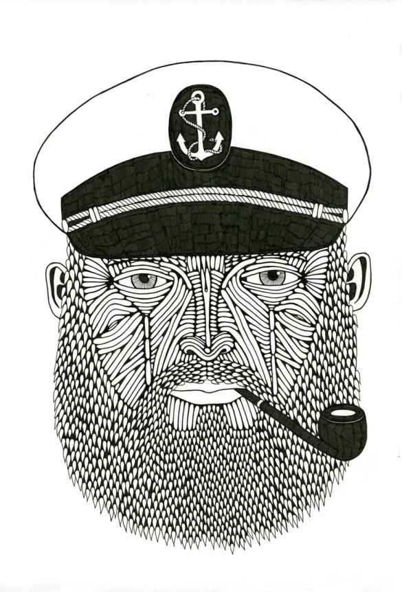 Sailor Beard Drawing This is a Drawing i Completed