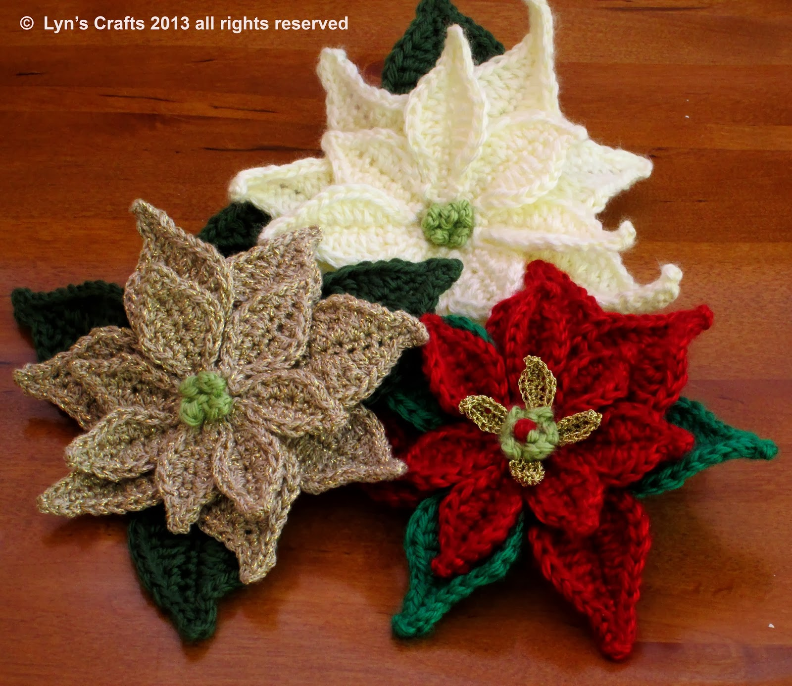 Free Crochet Patterns For Christmas Flowers : Evanescence : Christmas Crochets