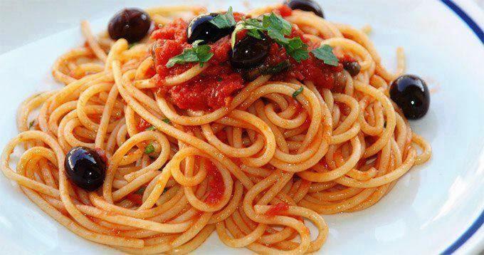 Recette des Spaghetti aux olives