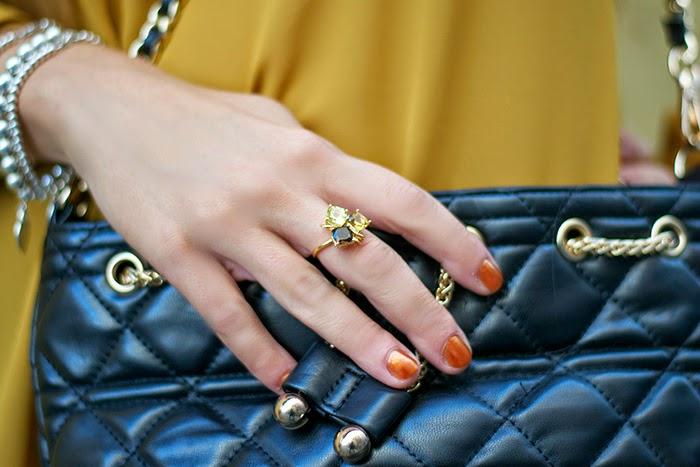 anello pietre colorate