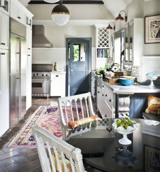 A Perfect Gray: Put A Worn Oriental Rug In Your Kitchen. Now