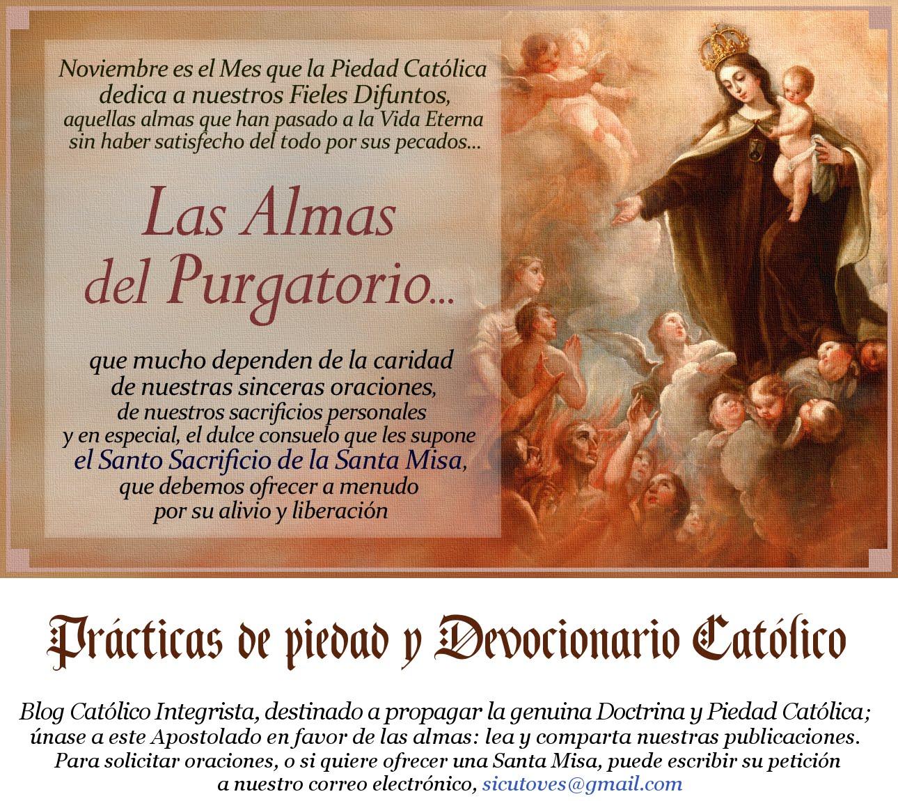 Prácticas de piedad y Devocionario Católico