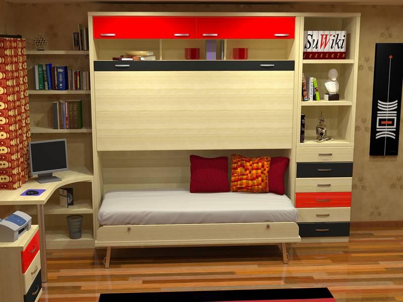 Fotografias de dormitorios con literas abatibles - Literas madrid ...