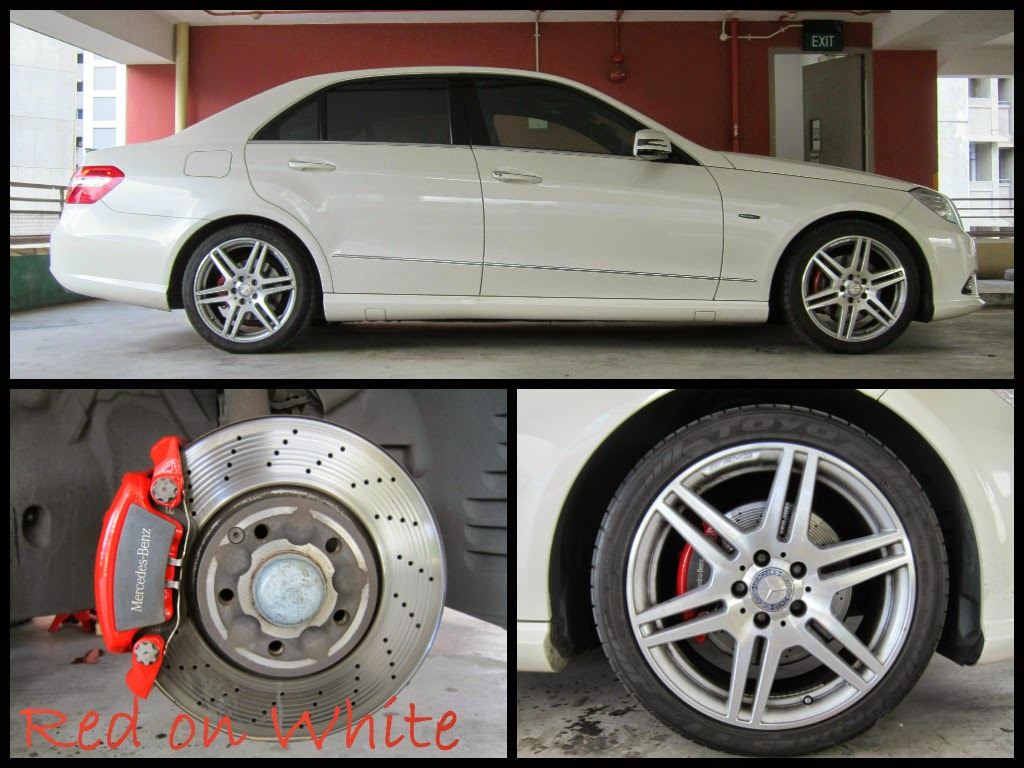 Mercedes benz brake caliper paint for Mercedes benz brake calipers