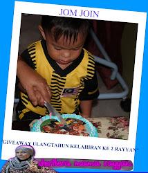 Giveaway Ulangtahun Kelahiran ke 2 Rayyan'