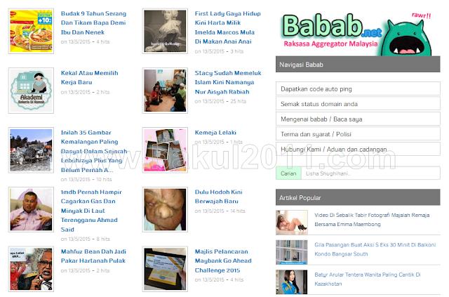 Ping Busuk Bertukar Kepada Babab.net