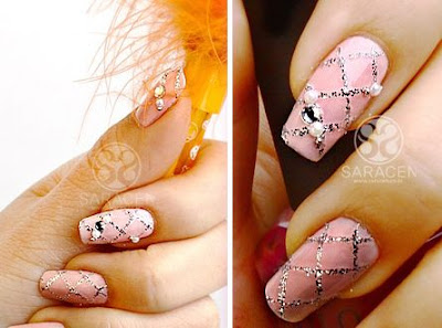 Pink Nail Art ,  Pink Nail Art Tutorial, Lovely Nail Art