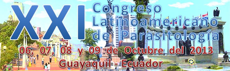 XXI CONGRESO LATINOAMERICANO DE PARASITOLOGIA FLAP 2013