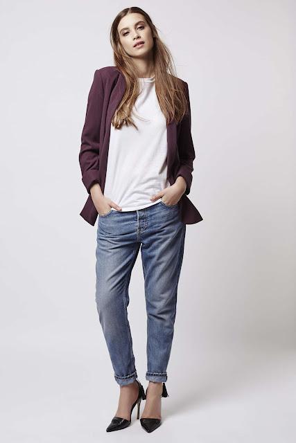 burgundy blazer, burgundy fitted jacket,