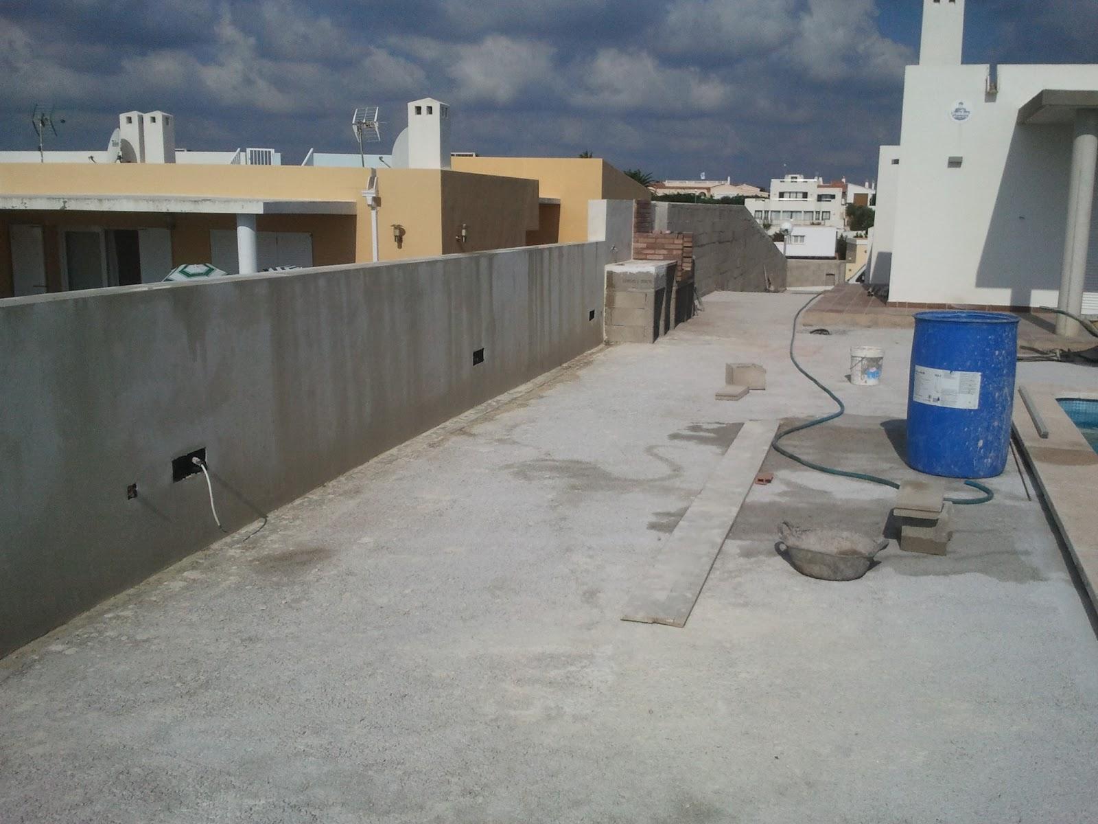 Reformas julio camarena reforma terraza - Cemento pulido para suelos ...