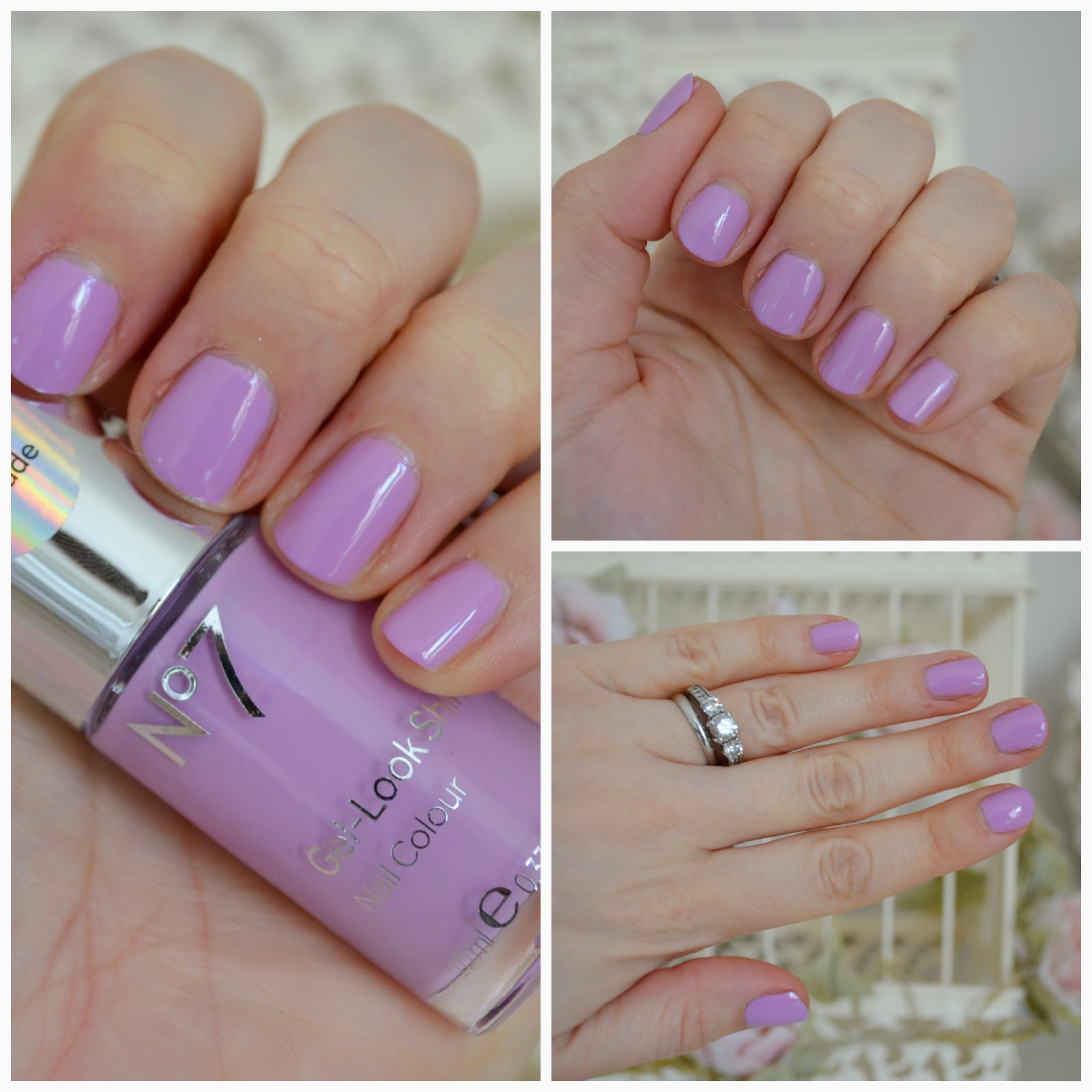 no 7 gel look shine sweet lilac