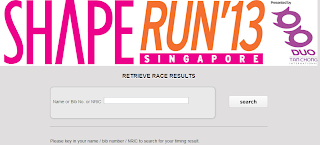 SHAPE RUN 2013 RESULT