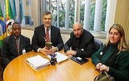 Jorn.Nelson Silva,Deputado estadual Jurandir Maciel,Pr.Sergio Batista e a Pra.Ana Paula Faillace.