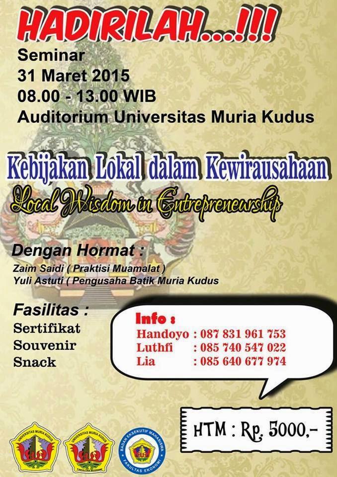 Seminar Kebijakan Lokal dalam Kewirausahaan
