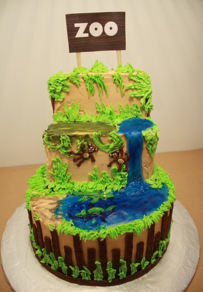 Cake Decoration Zoo : Party Cakes: Zoo Themed Cake