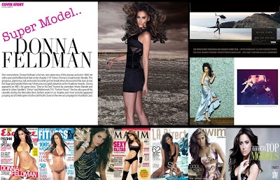 My Super Model sister, Donna Feldman's newest press sheet for 2012