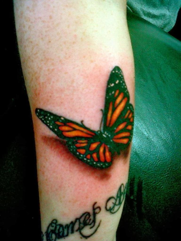 Xsefdsfdf 14 most beautiful butterfly tattoos 3d for for Women s 3d tattoos