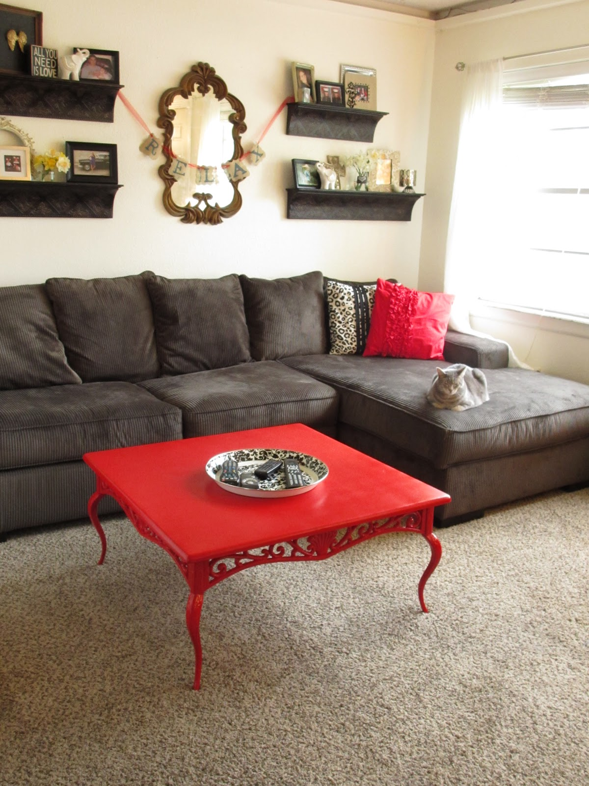 A Dash Of Kennedy Ruby Red Coffee Table