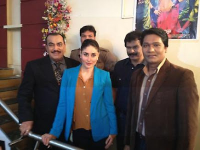 Kareena spotted with CID team to promote movie 'Heroine'