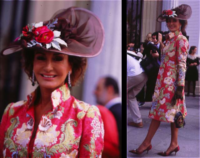 Naty Abascal vestida de Óscar de la Renta en la boda de su sobrina