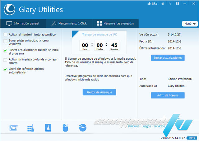 Glary Utilities PRO 5.14 Final Español