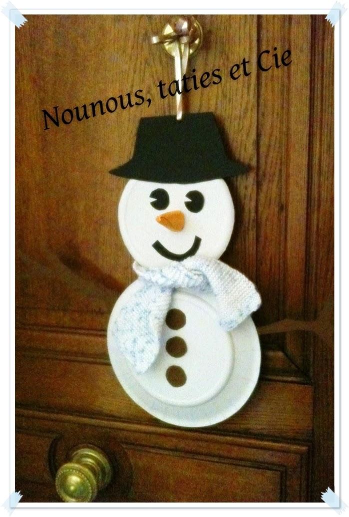 Nounous taties et cie le blog il neige - Bonhomme de neige en papier ...