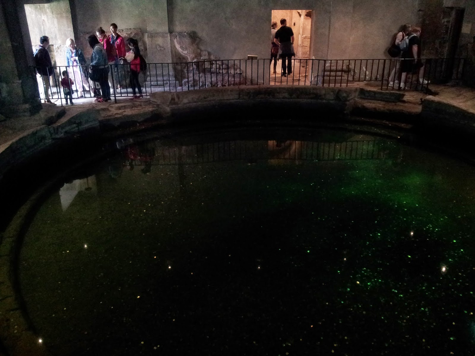 Pool inside Roman baths