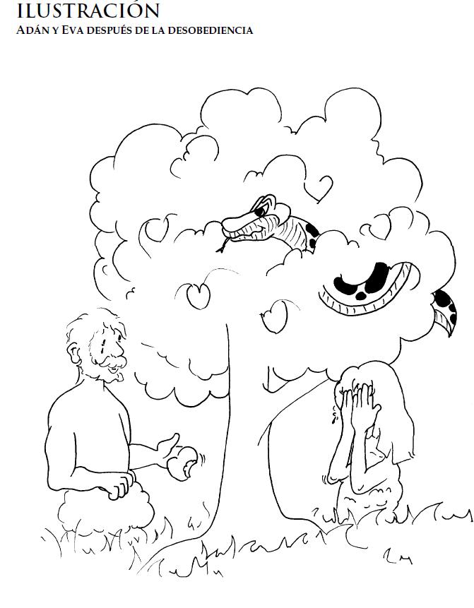 La expulso a adan y eva para colorear imagui for Adan y eva en el jardin del eden para colorear