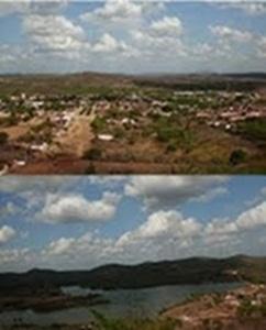 Vista da Cidade de Lajes Pintadas/RN
