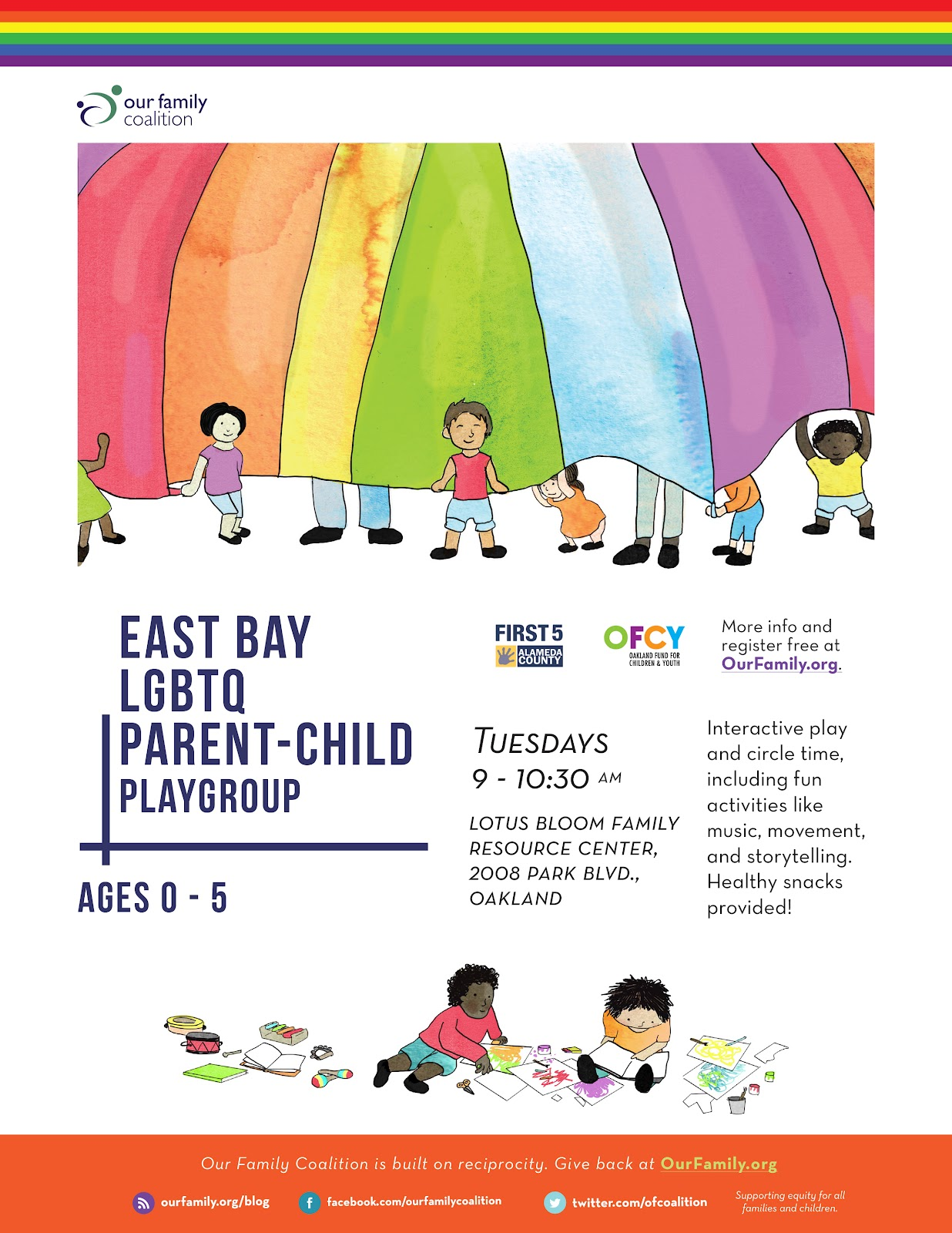 illustrations for east bay parent child playgroup