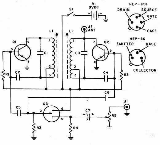 electronica retro  circuito theremin simple