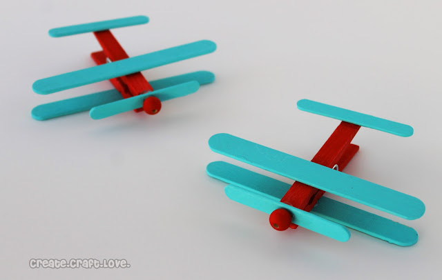 Clothespin airplanes party favors create craft love for Wealth from waste craft