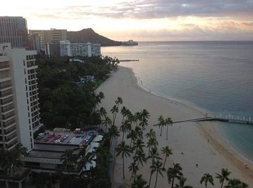 Hilton Hawaiian Village Oahu Honolulu Rainbow Tower view